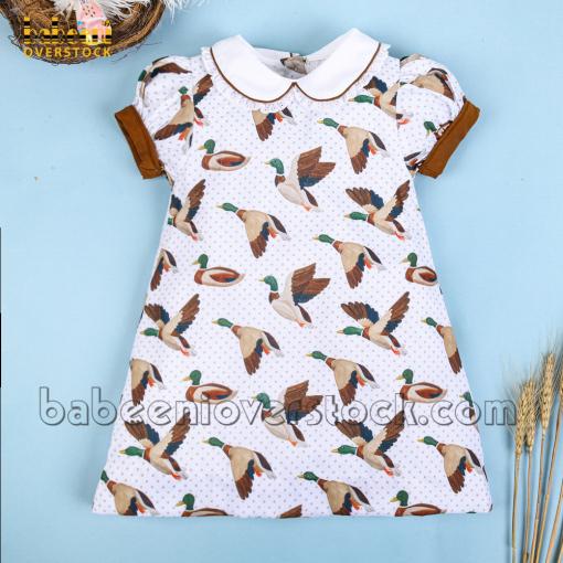 Mallard printed A-line dress – BB2370