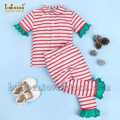 stripe-girl-pajama-with-green-ruffles---bb2379