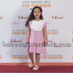 pretty-pink-quatrefoil-a-line-dress-bb619b