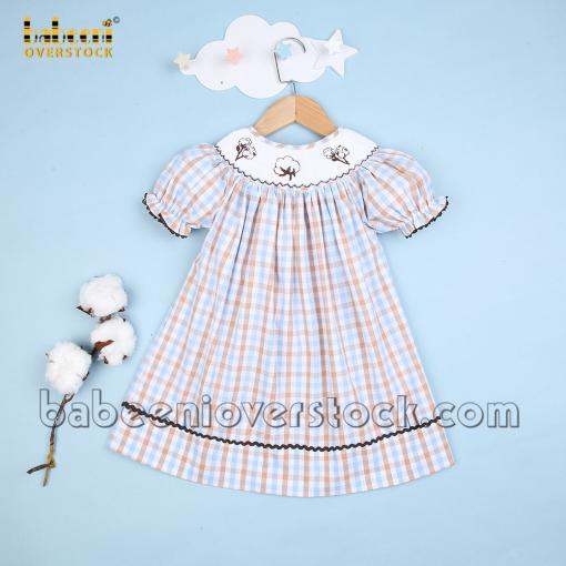Cotton hand smocked bishop dress - BB2389